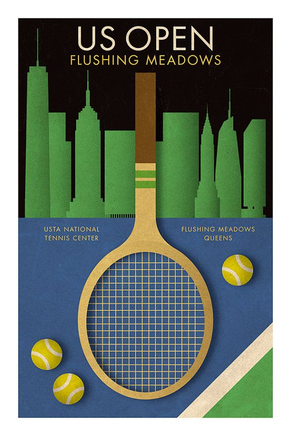 Stile retrò di US OPEN TENNIS poster sport memorabilia Nadal