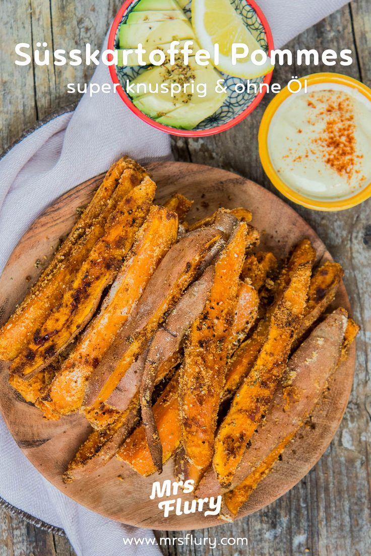 Knusprige Süßkartoffelpommes ohne Öl   – Comfort Food – die besten Rezepte zum Wohlfühlen