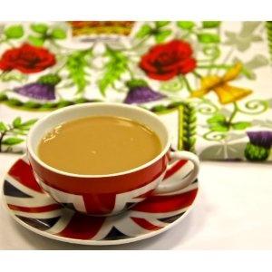Best of British Teacup and Queen Elizabeth Diamond Jubilee 2012 Tea Towel. Union Jack