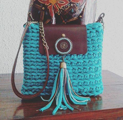 Bolsa Lona em Crochê - /  Bag upon Crochet -