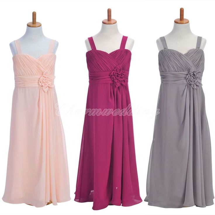 Chiffon Flower Girl Dress Kids Formal Wedding Party ...