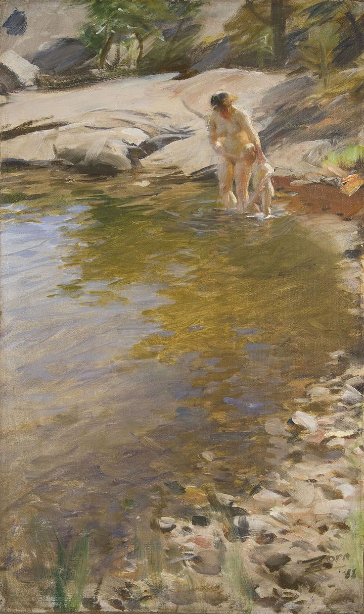 """Anders Zorn's 1888 painting """"The Morning Toilet."""" (Courtesy Gardner Museum)"""