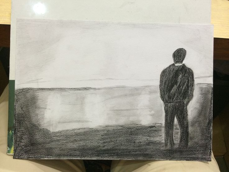 My effort to sketch down loneliness in its own way