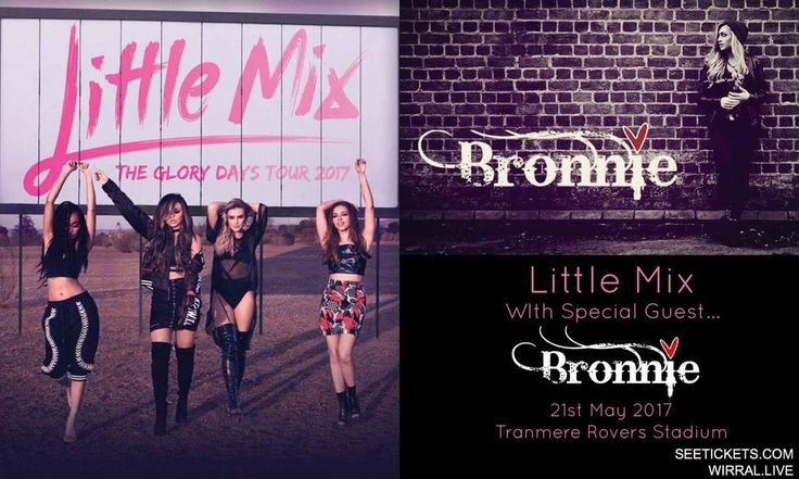 #BronnieMusic SPECIAL SUPPORT for #LittleMix at Tranmere Rovers STADIUM!!💋 http://www.seetickets.com/event/wirral-live-presents-little-mix/prenton-park/1057592  #BRONNIELITTLEMIX