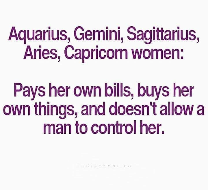 Independent Zodiac Women