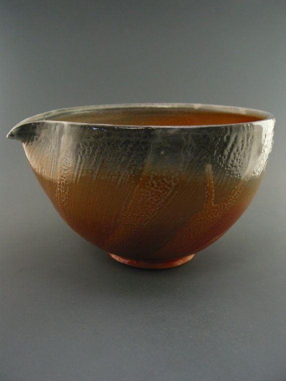 Large+Mixing/Serving+Bowl+woodfired+helmer+by+GREENWOODSTUDIO,+$65.00