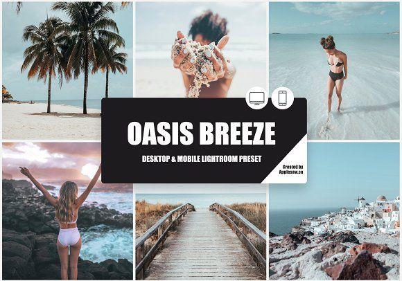 Oasis Breeze Lightroom Preset by Applesaw.co on Creative Market #oasis #lightroo…