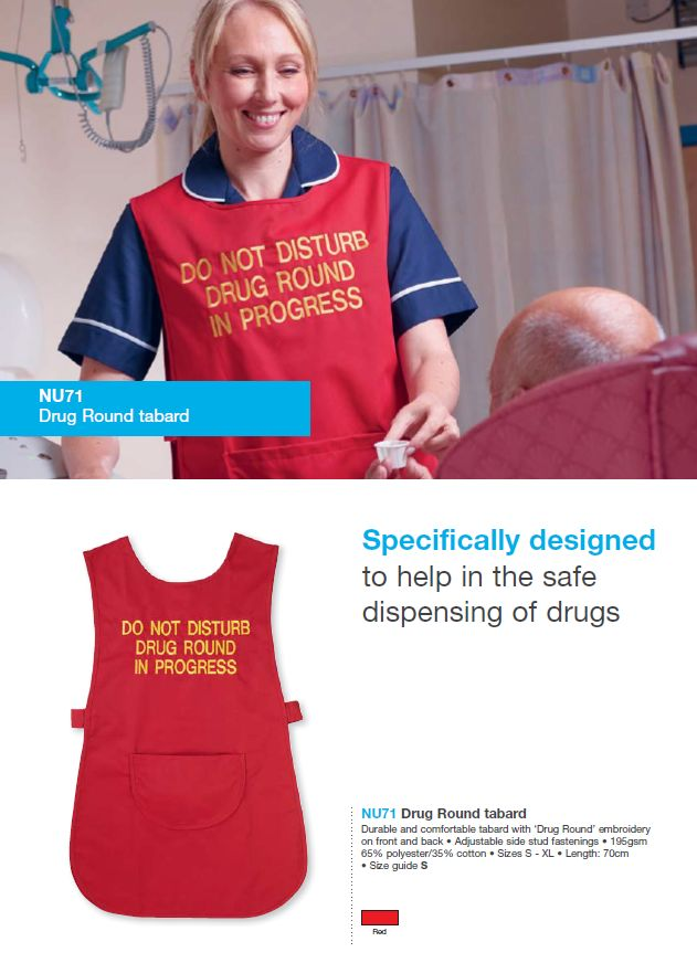 Drug Round Tabard, full brochure can be downloaded here   - healthcare brochure