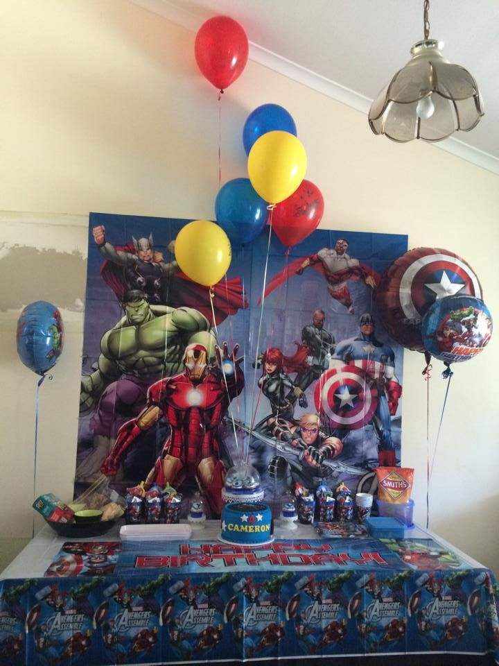 Avenger's Themed Party - All Avengers partyware can be found on our website. For the helium balloons, please contact us for details as we are able to get them in, just not inflate them at this time.