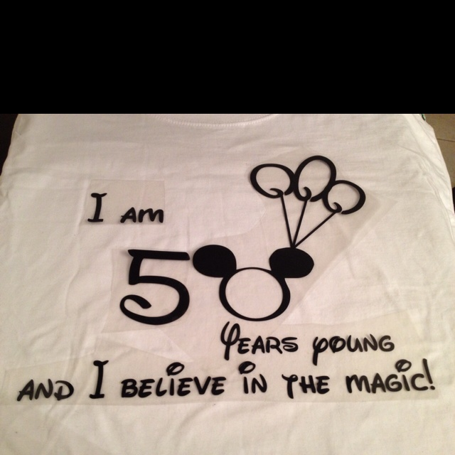 Jim's birthday shirt for Disneyland in the making