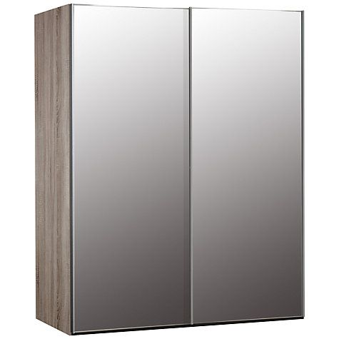 Buy John Lewis Elstra 150cm Wardrobe with Mirrored Sliding Doors Online at johnlewis.com