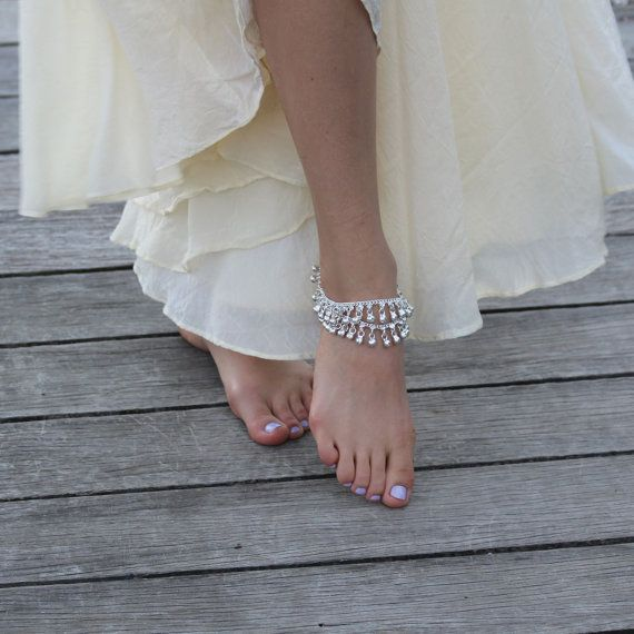 Silver Anklet, Silver Bell Anklet, Silver Charm Anklet