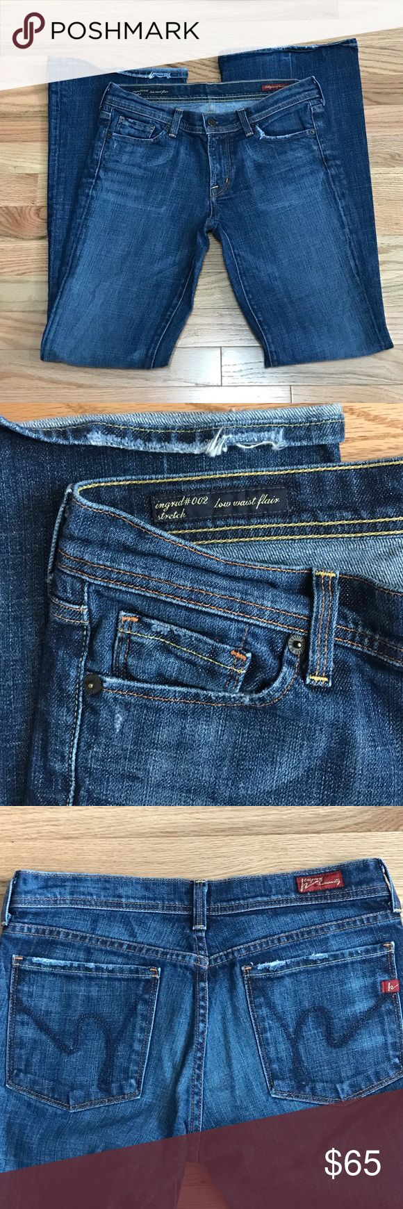 🌟Flash Sale Citizens of Humanity 27 Ingrid Jeans Citizens of Humanity Size 27 Ingrid Jeans, distressed pockets and cuffs, inseam 32, rise 9 Citizens of Humanity Jeans Flare & Wide Leg