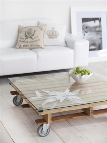 Coffee table made from pallets/Koffietafel gemaak van laaiborde