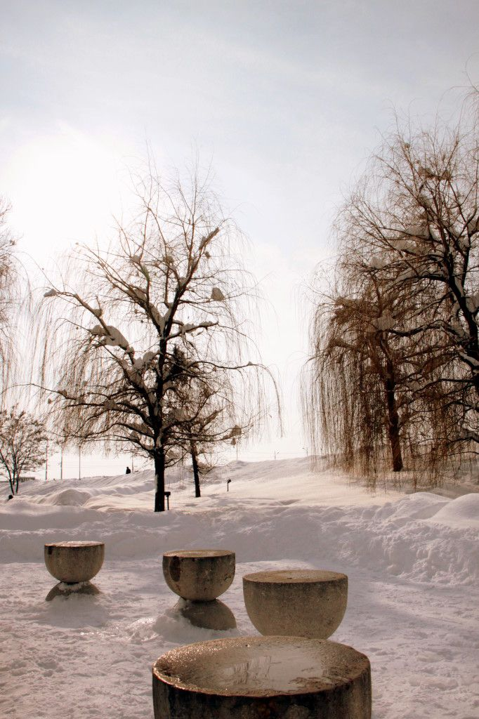 Table of Silence Covered with Snow, Constantin Brancusi