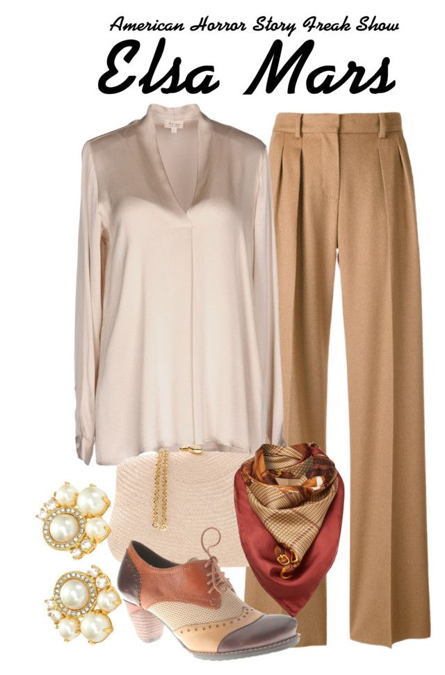 Ahs freak show by sparkle1277 on Polyvore featuring polyvore, fashion, style, Her Shirt, MaxMara, Spring Step, Serpui, Kate Spade, Lauren Ralph Lauren and clothing