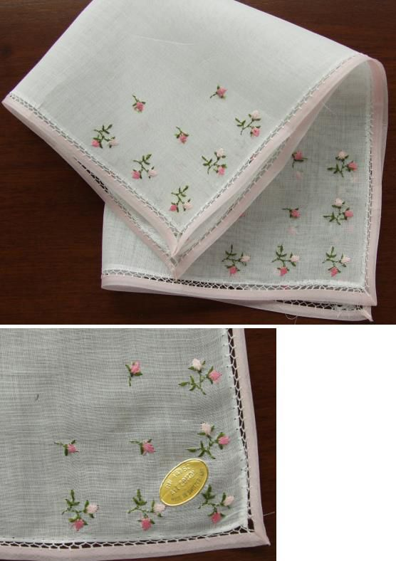 Antique Style: Embroidered Hankies