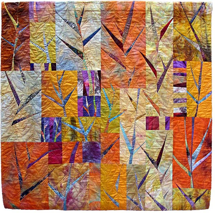September by Sandra Grusd.  Quilt Fest 2015.  Contemporary Quilt (UK).