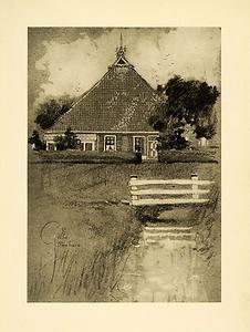 1909 Print Farm House Friesland Fence Farming Netherlands Pasture Holland Art | eBay