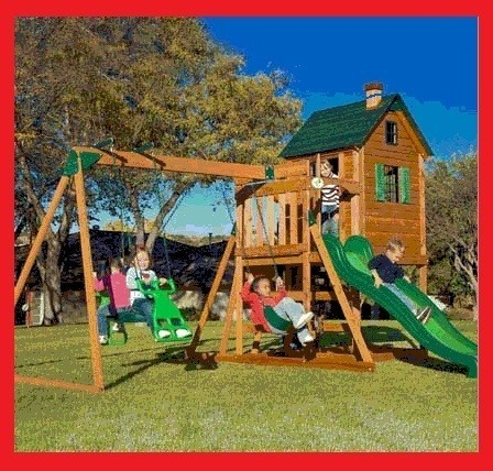 Playhouse Swing Set Combo Plans Woodworking Projects Amp Plans