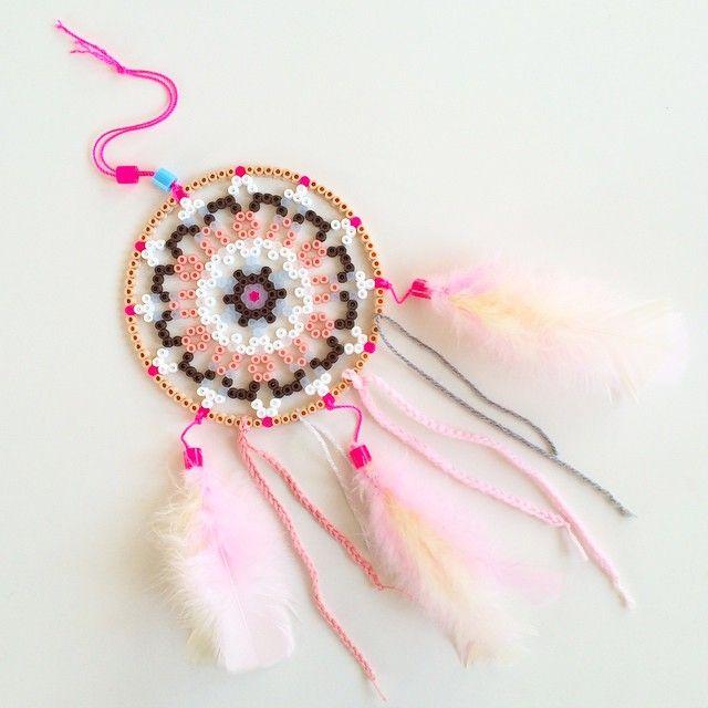 Dreamcatcher hama perler beads by lllogco