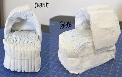 Diaper Bassinet Tutorial.  Great gift for a baby shower.
