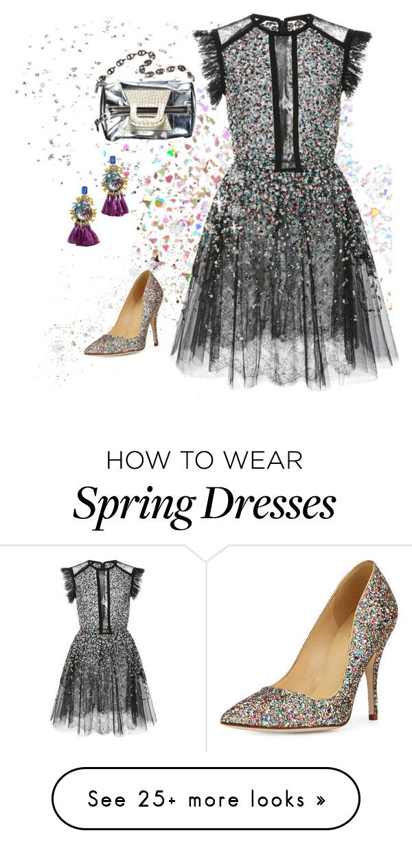 """Party Dress"" by lulalaoils on Polyvore featuring Elie Saab, Kate Spade, Elizabeth Cole, dress, partydress and nye"