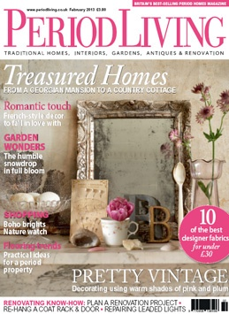 Feb 2013 issue of @Period Living Magazine, in shops now.