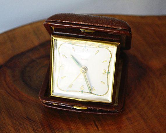 Renown Travel Alarm Clock 2 Jewels German Clock