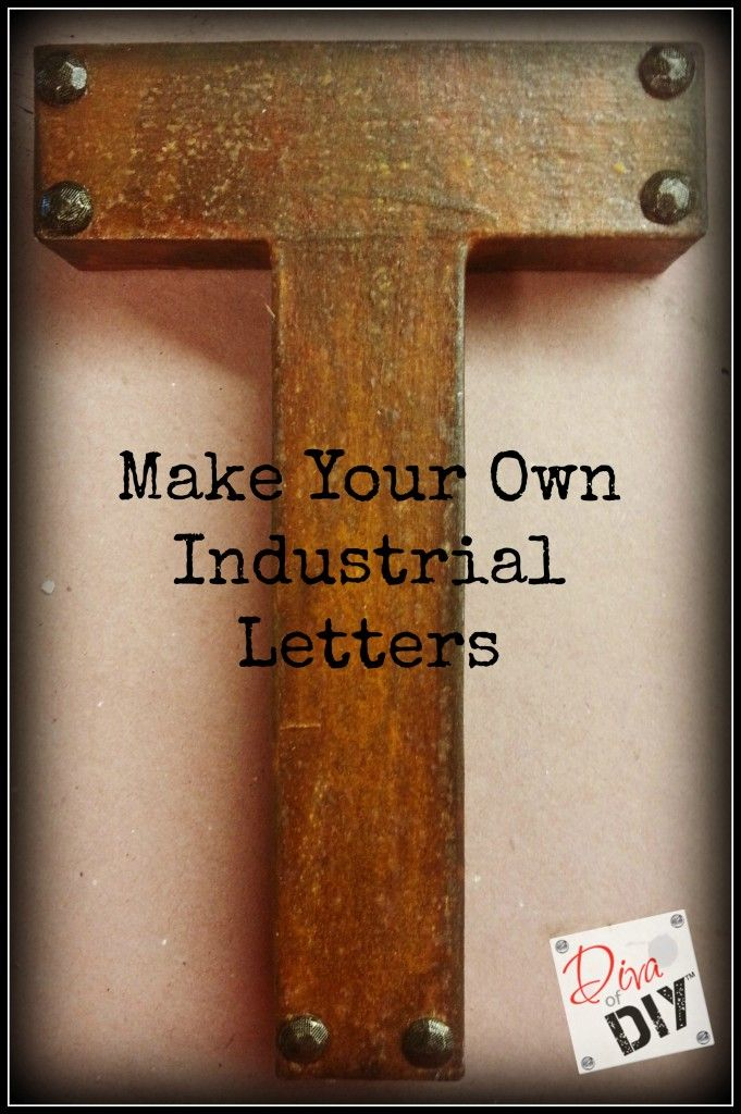 Make Industrial Letters with Modern Masters Metal Effects | Diva of DIY