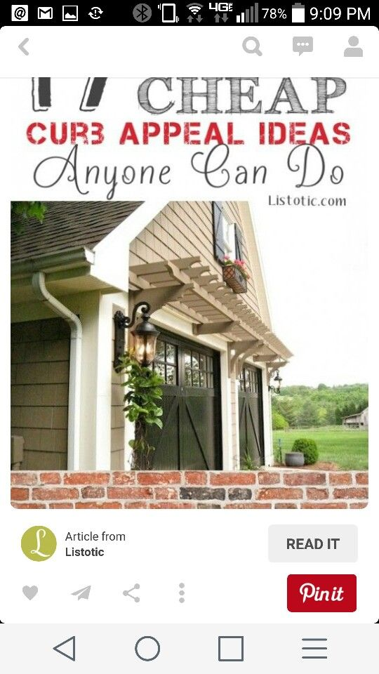 Add this above garage to match the front porch.