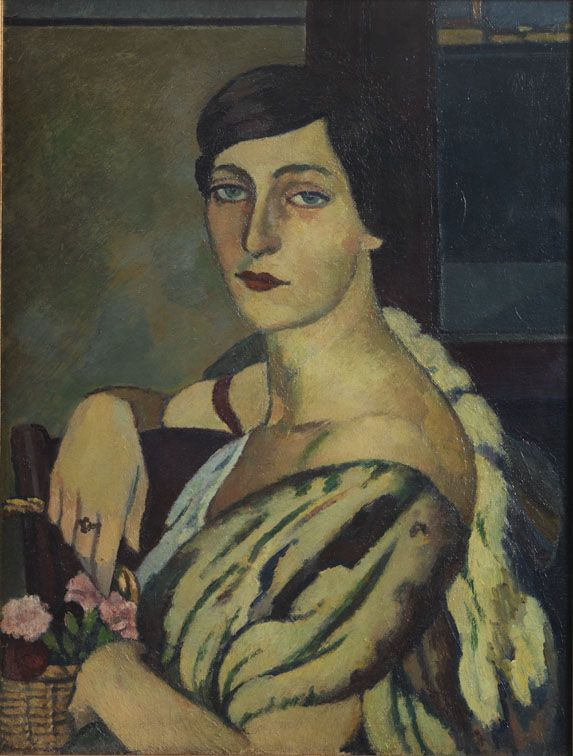 """Piero Marussig - Signora con pelliccia, 1920 ca.  """"La Magnifica Ossessione"""" www.mart.tn.it/magnificaossessione"""