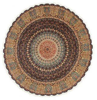 #Round #Tabriz 50 Raj with silk #carpet Ø 252 fro…