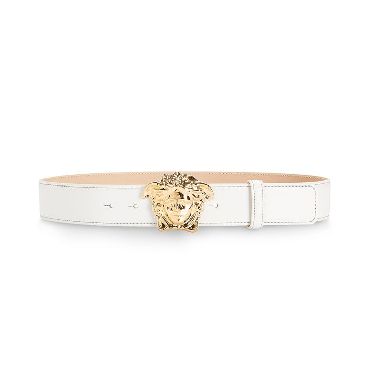 Powerful white. Find more #Versace Men's belts on versace.com