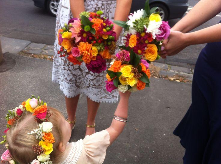 Bright wedding: posy shazaam!