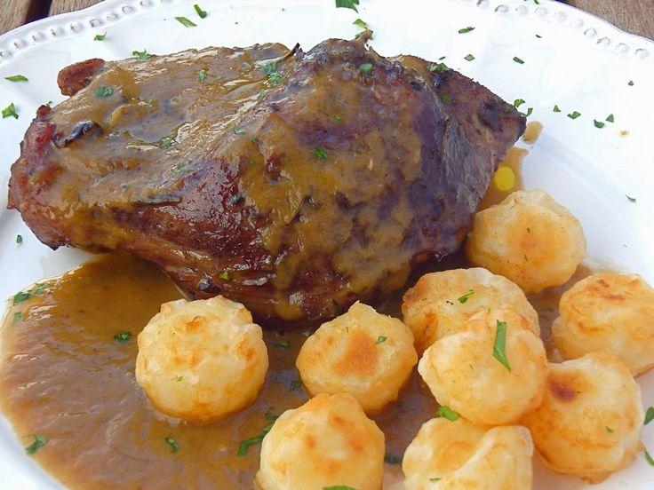 Les receptes que m'agraden: Galta de porc al forn - Carrillera de cerdo al horno