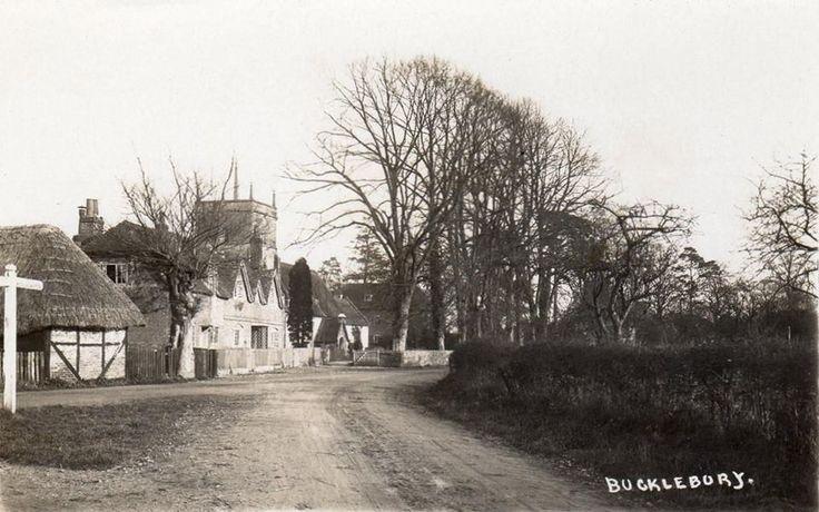 Old photo of Bucklebury Village church