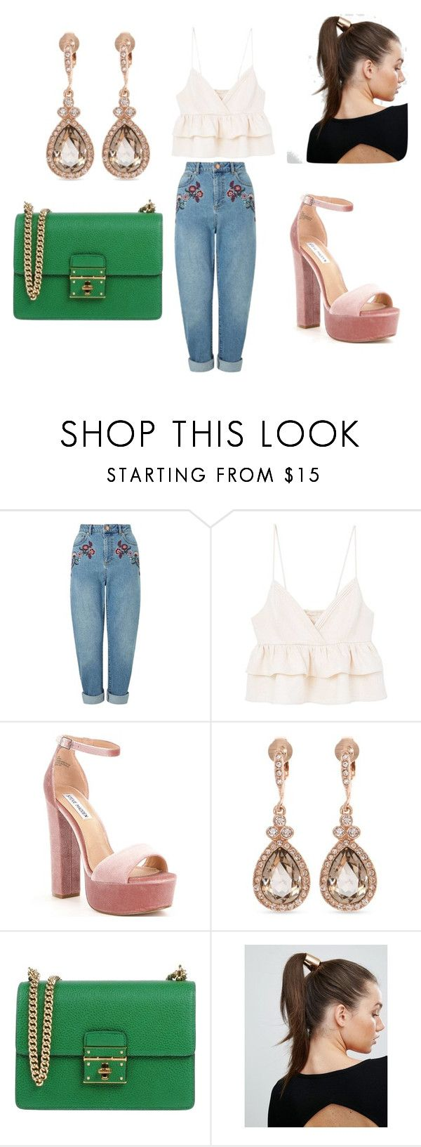 mom jeans by tatyana-ransome on Polyvore featuring MANGO, Miss Selfridge, Steve Madden, Dolce&Gabbana, Givenchy and Johnny Loves Rosie