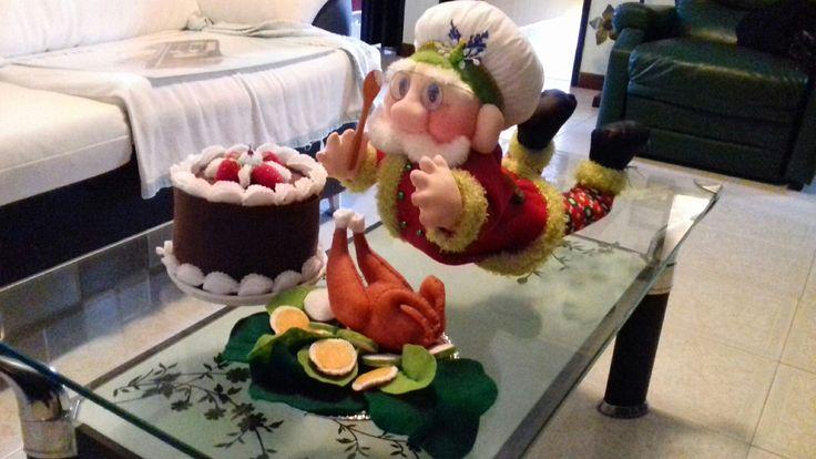 Santa cocinero pastelero.