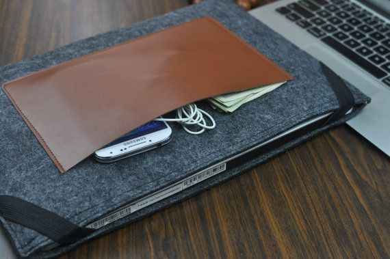 Macbook felt case Macbook Air 11 17 felt Sleeve by FeltBagWorld
