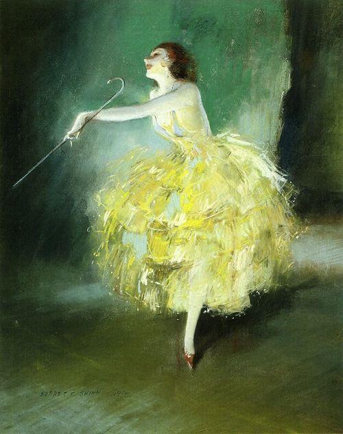 Vaudeville Dancer   Everett Shinn 1912