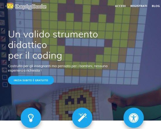 ZaplyCode: strumento didattico italiano di coding e pixel art per insegnanti e bambini - Maestro Alberto