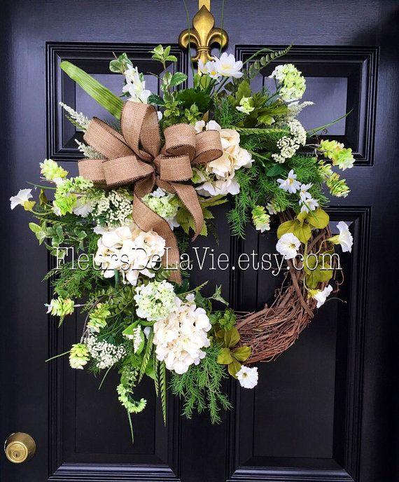 Spring Wreaths for Front Door Spring Wreath by FleursDeLaVie