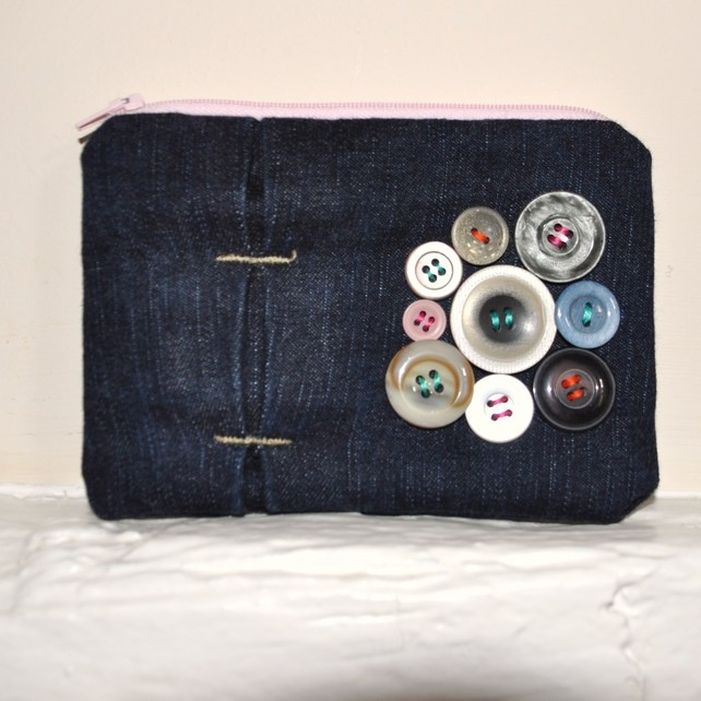 Button Denim Purse £12.00