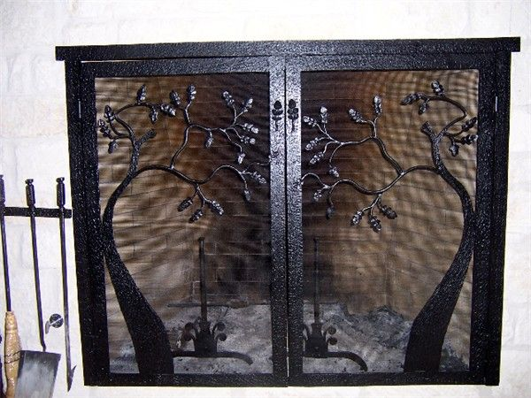 24 Best Images About Wrought Iron Fireplace Screen On Pinterest