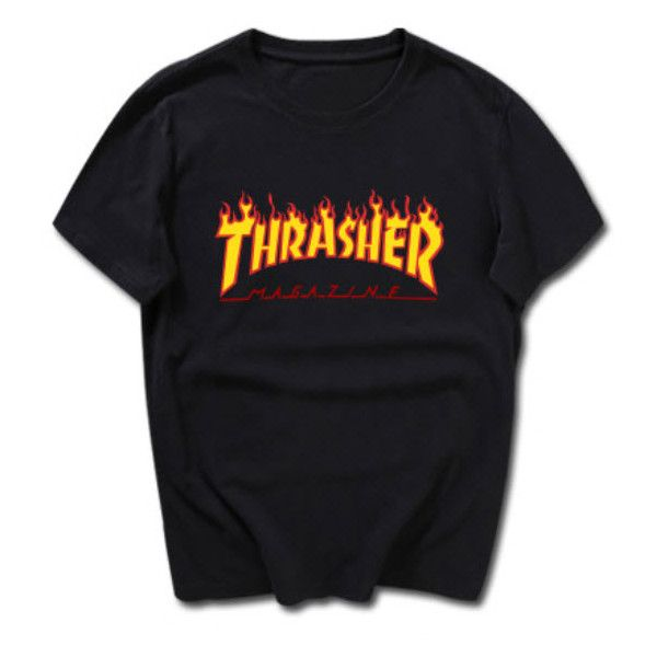 Trasher T-shirt ($24) ❤ liked on Polyvore featuring tops, t-shirts, cotton tee and cotton t shirt