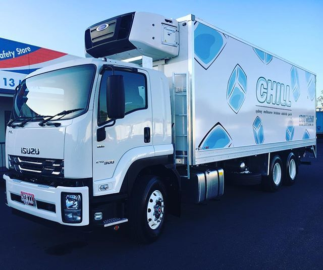 Summer days have arrived and so has this new #chill #refrigerated #truck for #chillptyltd #lovinit  #productsampling #experientialmarketing #freezertruck #outdoor #isuzu