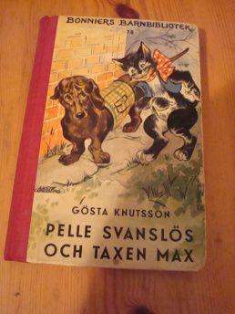 G.Knuttson: Pelle Svanlös och taxen Max | Harris Antik och Retro
