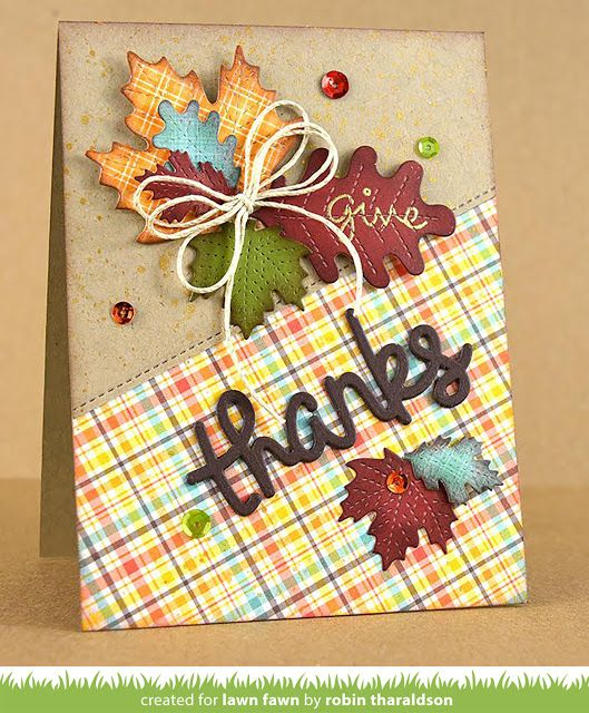 the Lawn Fawn blog: A Beautiful Thanksgiving Card by Robin!