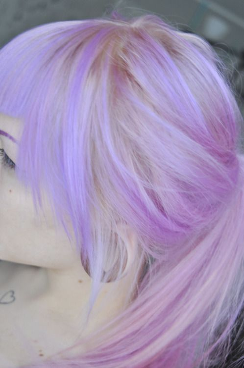 Lilac pastel purple hair. I just love this color